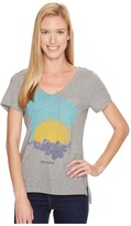Life is Good Sunset Pocket Vibe Tee Women's T Shirt