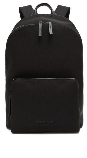 Troubadour Adventure Slipstream Leather-trim Backpack - Black