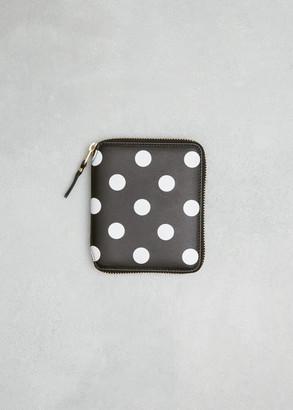 Comme des Garcons Women's Dots Print Leather Line Wallet in Black