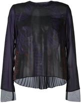 Sacai calligraphy print blouse - women - Polyester/Cupro - 2