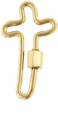 Marla Aaron Cross Lock - Yellow Gold