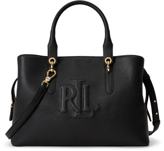 Ralph Lauren Hayward Leather Medium Satchel
