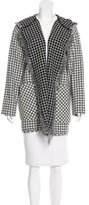 Pinko Checkered Wool Coat