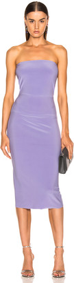 Norma Kamali for FWRD Strapless Dress in Violet | FWRD