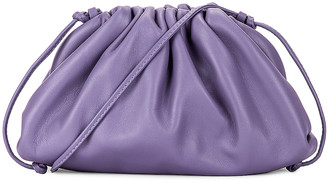 Bottega Veneta The Mini Pouch Crossbody Bag in Lavender & Silver | FWRD