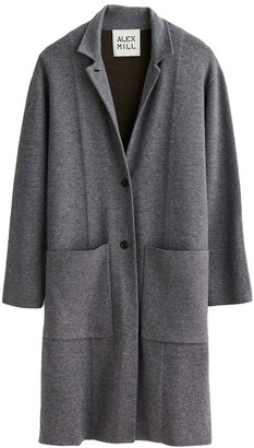 Alex Mill Wool Blend Half Sweater Coat in Lead/Sable