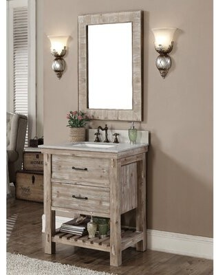Laurel Foundry Modern Farmhouse Clemmie, Clemmie 61 Double Bathroom Vanity Set With Linen Tower