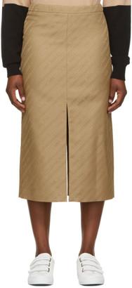 Givenchy Beige Jacquard Tubino Skirt