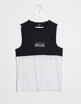 New Look Miami piped block tank in black