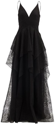 Givenchy Tiered Chantilly-lace Gown - Black