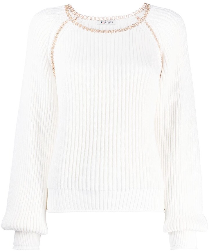 Ports 1961 Fully Fashioned cotton jumper