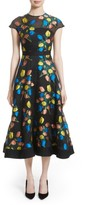 Lela Rose Women's Tulip Embroidered Fit & Flare Dress