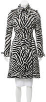 Michael Kors Zebra Print Trench Coat