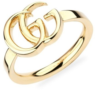 Gucci Running G Logo 18K Yellow Gold Ring