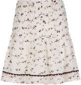 Ulla Johnson Gardenia Silk Pin Tuck Amalia Skirt