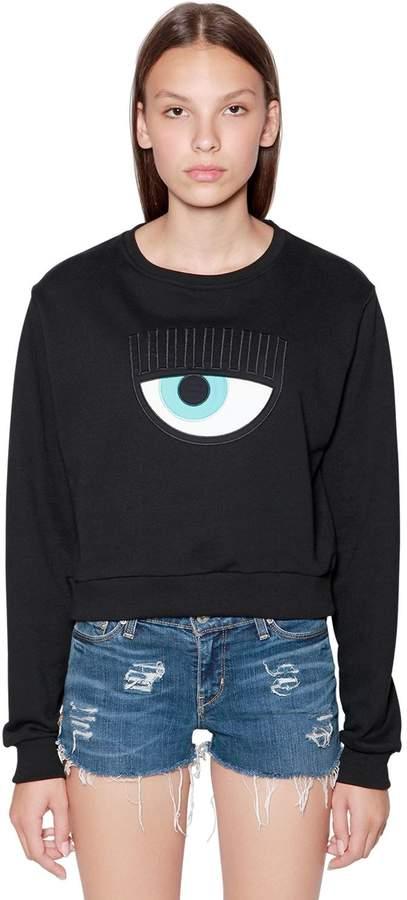 Chiara Ferragni Eye Patch Cotton Sweatshirt