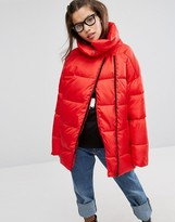 House of Holland Padded Jacket With Asymmetric Zip