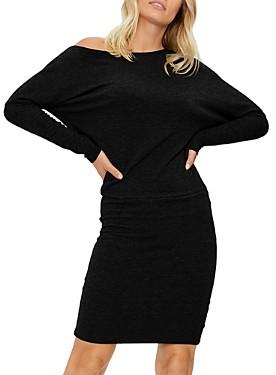 Michael Stars Heather Cold-Shoulder Jersey Dress
