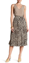 Vince Camuto Pleated Leopard Song Skirt