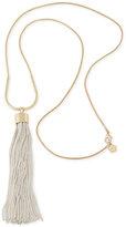 Trina Turk Two-Tone Tassel Pendant Necklace