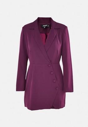 Missguided Purple Button Side Blazer Dress