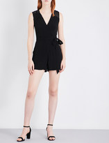Sandro Wrap-style crepe playsuit
