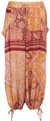 Free People Begonia Printed Rayon Trousers