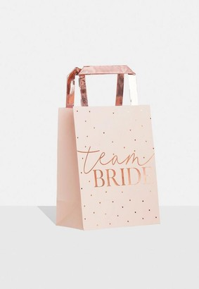 Missguided Rose Gold Team Bride Party Bag 5 Pack