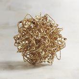 Pier 1 Imports Mini Gold Wire Decorative Sphere
