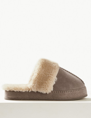 Marks and Spencer Suede Mule Slippers
