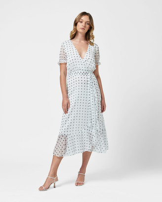 MVN - Women's White Midi Dresses - Somerset Sky Dress - Size One Size, 6 at The Iconic
