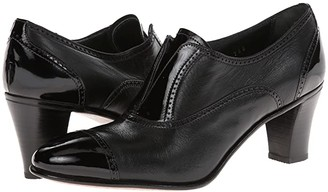Gravati Cap Toe Mid-Heel (Black) High Heels