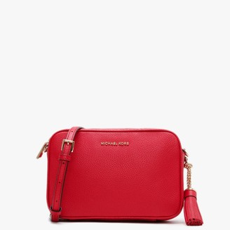 Michael Kors Bright Red Pebbled Leather Camera Bag