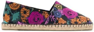 AMIR SLAMA X Cervera floral print espadrilles