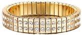 KZUN Luxury Womens Plated Full Diamond AAA Cubic Zircon Crystal Link Bracelet