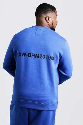 Big & Tall Branded Sweater With Back Print