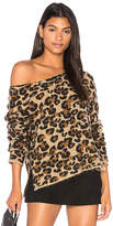 Central Park West Montana Avenue Leopard Sweater