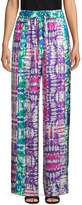 Prabal Gurung Printed Silk Wide-Leg Pants