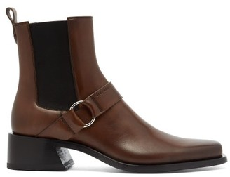 Givenchy Austin Harness Leather Boots - Brown