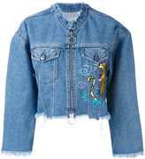 Marcelo Burlon County of Milan Amine denim jacket - women - Cotton/Polyester - XS