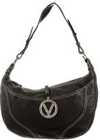 Valentino Pebbled Leather Logo Hobo
