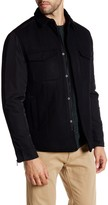Kenneth Cole New York Collared Zip and Snap Button Jacket