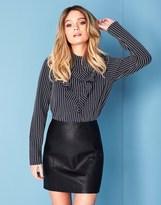 Noisy May High Waist Pu Mini Skirt
