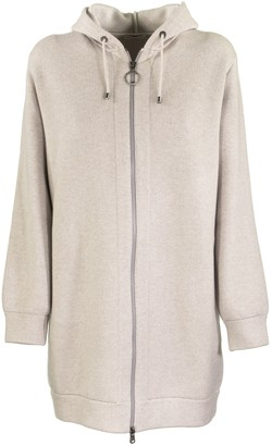 Brunello Cucinelli Cardigan Sparkling Cashmere Double Knit Cardigan With Shimmer Zipper Pull