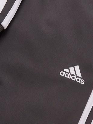 adidas Childrens JB DMH 3 Stripe Full Zip Hoodie Tracksuit - Grey