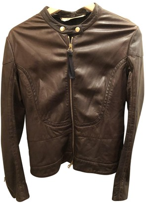 Marni Brown Leather Leather Jacket for Women