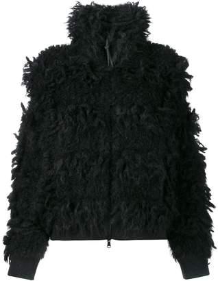 Brunello Cucinelli textured high neck jacket