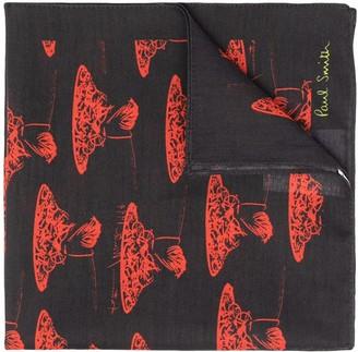 Paul Smith Spaghetti-Print Pocket Square
