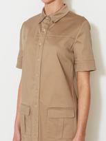 Short Sleeve Utility Shirtdress