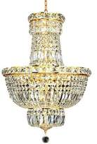 House Of Hampton Fulham 12 - Light Unique / Statement Empire Chandelier House of Hampton Finish: Gold, Crystal: Royal Cut